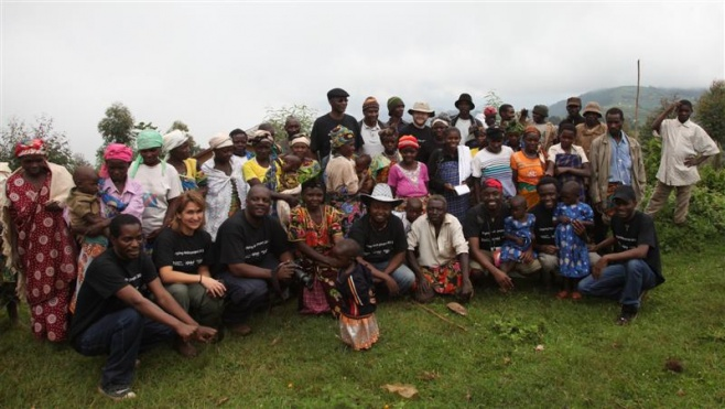 Singing Wells team with Birara Batwa community