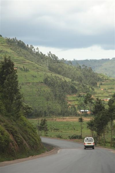On the road from Kigali to Kisoro