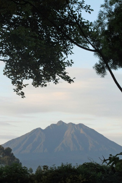Virunga volcano from Traveller's Rest Hotel Kisoro
