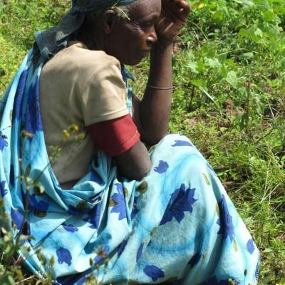 Watching the performance - Mperwa Batwa community
