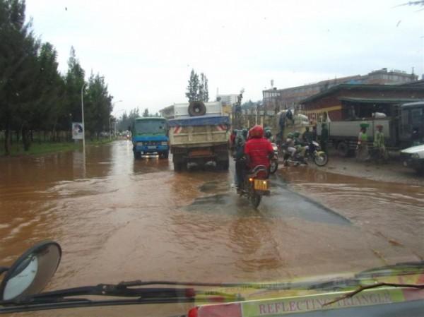 Kigali in the rain
