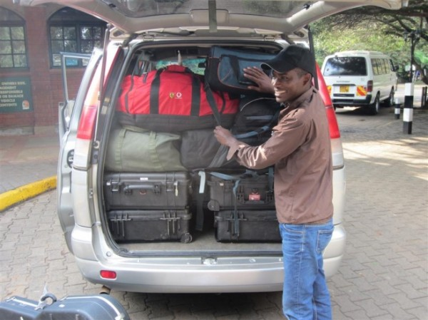 Singing Wells mobile recording equipment loaded in the van