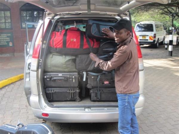 Singing Wells mobile recording equipment loaded in the van