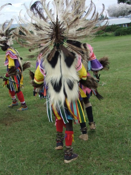 Head dress full view - Kochia Dancers, Homa Bay
