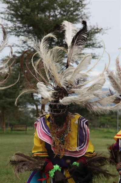 Head dress Kochia Dancers, Homa Bay
