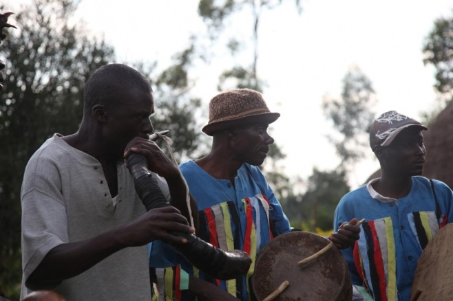 Horn player from Kanindi Jazz Band