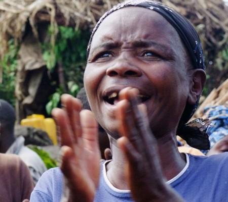 Batwa singer from Mperwa community