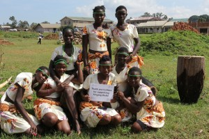 Elgon Ngoma Troupe girls with Mara sign