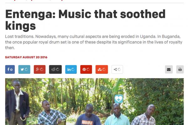 James Entenga article Daily Monitor