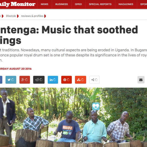 James Entenga article Daily Monitor